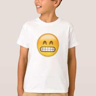 Mueca de la cara con los ojos sonrientes Emoji Playera