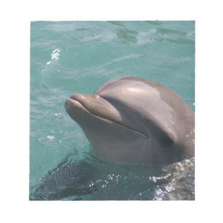 Mueca de la libreta del delfín bloc de papel