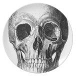 Mueca de la placa del cráneo plato