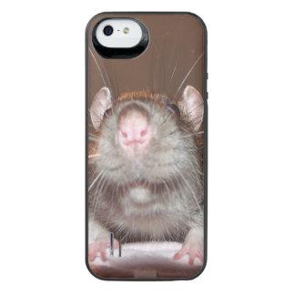 mueca de la recarga de la batería de la rata para funda power gallery™ para iPhone 5 de uncommon