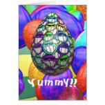 Mueca de la tarjeta del huevo de Pascua
