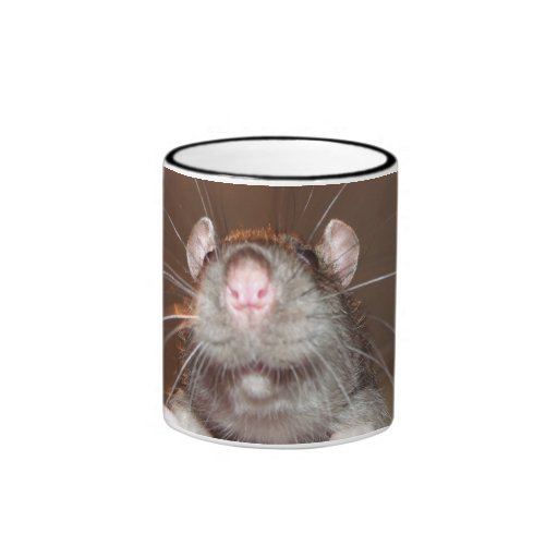 mueca de la taza de la rata