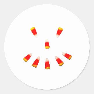 Mueca de las pastillas de caramelo de Halloween Pegatina Redonda