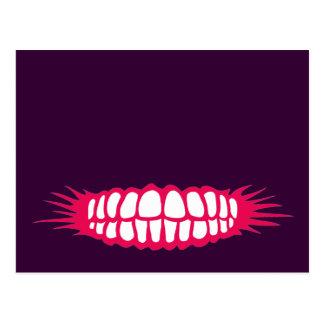 Mueca de los dientes tarjeta postal
