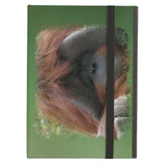 Mueca de verde de la foto del mono de la cara del