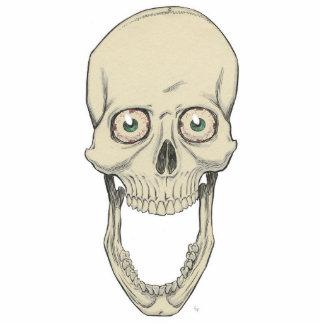 Mueca del cráneo fotoescultura vertical