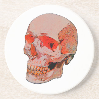 Mueca del cráneo posavaso para bebida