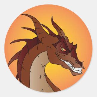 Mueca del dragón etiquetas