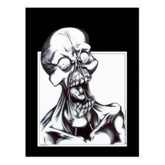 Mueca del espíritu necrófago postal
