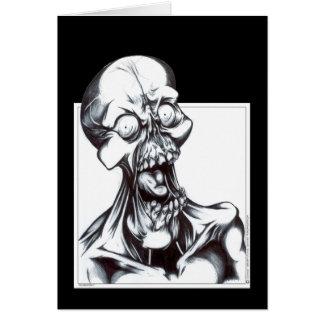 Mueca del espíritu necrófago tarjeta de felicitación