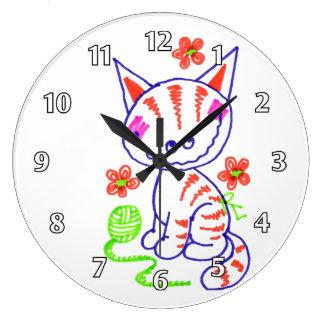 Mueca del gatito relojes