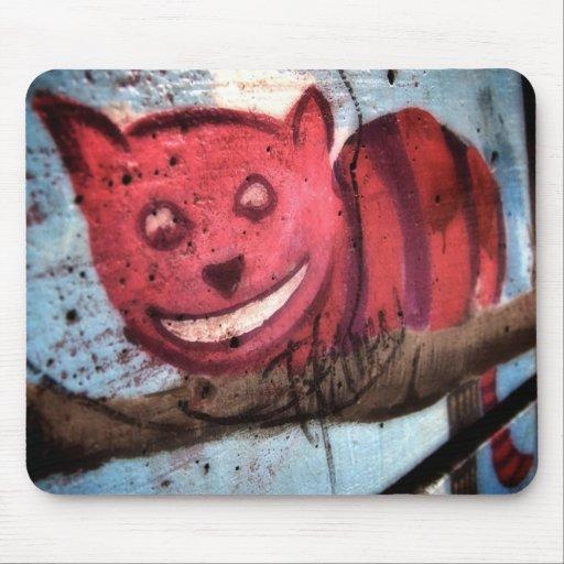 Mueca del gato de Cheshire Alfombrillas De Ratón