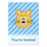 Mueca del gato invitación 12,7 x 17,8 cm