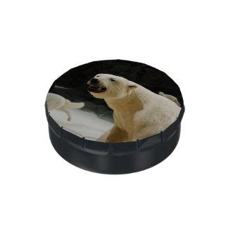 Mueca del oso polar latas de caramelos
