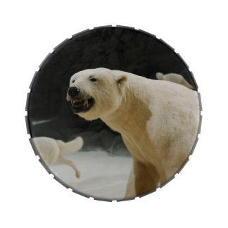 Mueca del oso polar frascos de caramelos