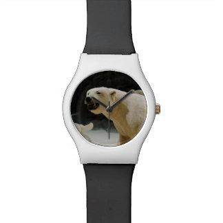 Mueca del oso polar reloj de mano