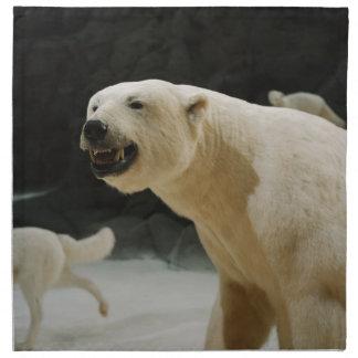 Mueca del oso polar servilleta de papel