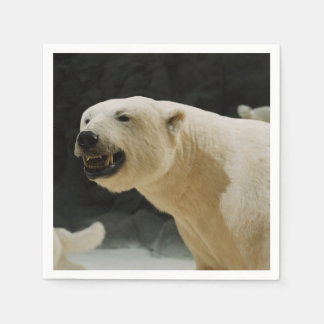 Mueca del oso polar servilletas de papel
