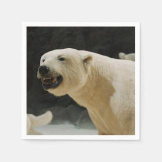 Mueca del oso polar servilletas desechables