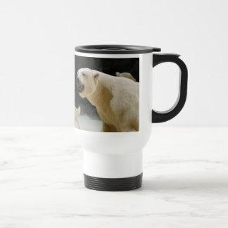 Mueca del oso polar taza de café