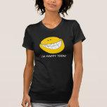 Mueca sonriente tonta de la cara camiseta
