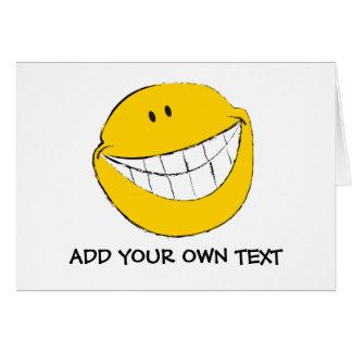 Mueca sonriente tonta de la cara tarjeta de felicitación