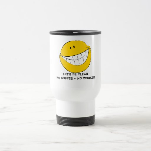 Mueca sonriente tonta de la cara tazas de café