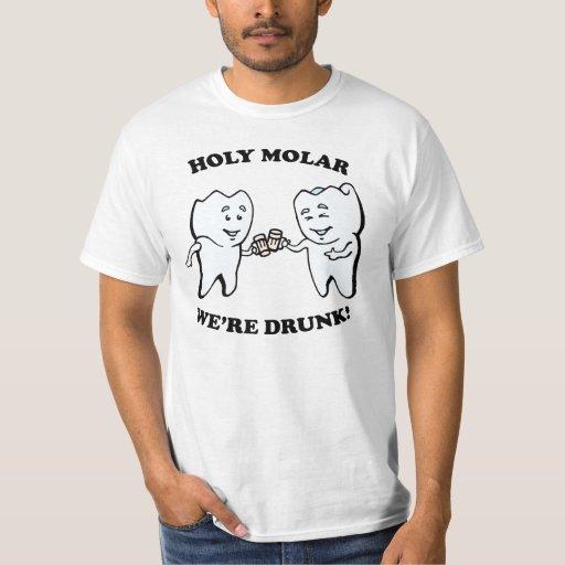 ¡Muela santa! Camiseta Poleras