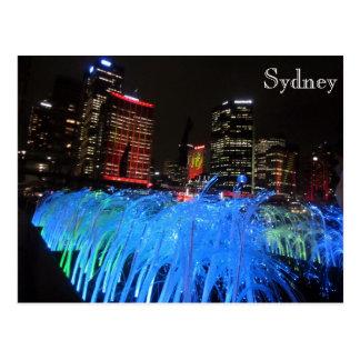muelle circular vivo de Sydney Tarjeta Postal