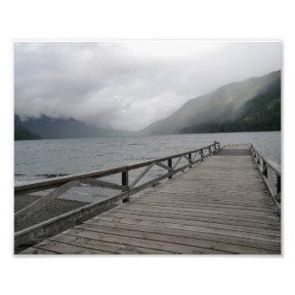 Muelle creciente de Washington del lago Impresiones Fotograficas