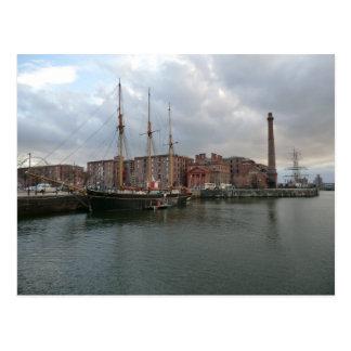 Muelle de Albert de Liverpool Tarjeta Postal