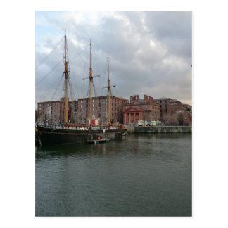 Muelle de Albert de Liverpool Tarjetas Postales