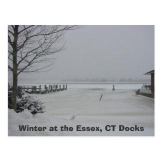 Muelle de Essex invierno en el Essex muelles del Tarjeta Postal
