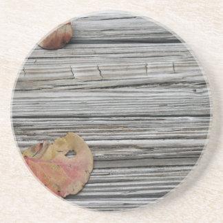 muelle de madera de dos hojas del seagrape posavasos manualidades