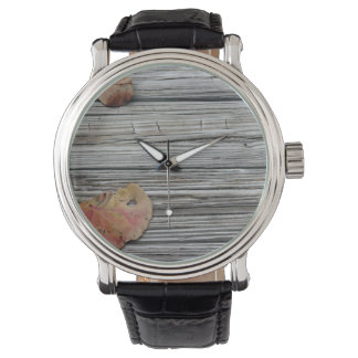 muelle de madera de dos hojas del seagrape relojes