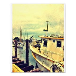 Muelle del barco de la isla de Wilmington Impresiones Fotograficas