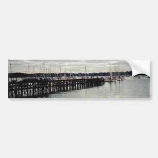 Muelle del barco pegatina para auto