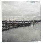 Muelle del barco servilleta de papel