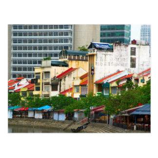Muelle del barco tarjetas postales