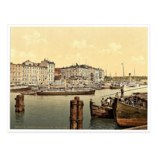 Muelle del buque de vapor, puerto de Stettin, Pomm Tarjetas Postales