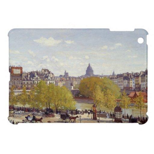 Muelle del Louvre, París - Claude Monet iPad Mini Cárcasa