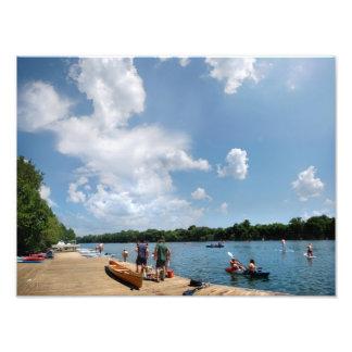 Muelle del Rowing del lago ladybird - Austin Tejas Impresión Fotográfica