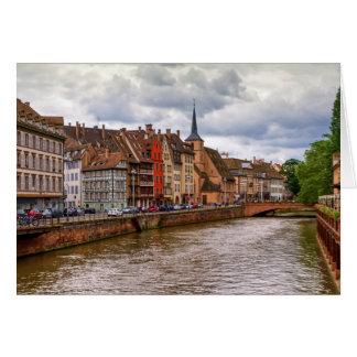 Muelle del Saint Nicolas en Estrasburgo, Francia Tarjeta De Felicitación