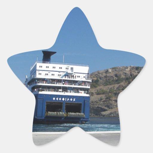 Muelle del transbordador pegatina en forma de estrella