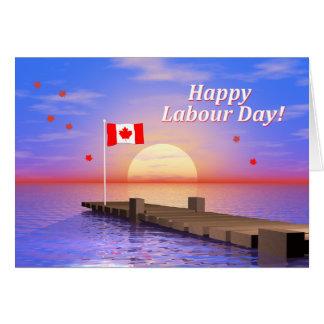 Muelle feliz de Canadá del día de trabajo Tarjetas