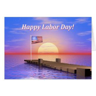 Muelle feliz del Día del Trabajo Tarjeta De Felicitación