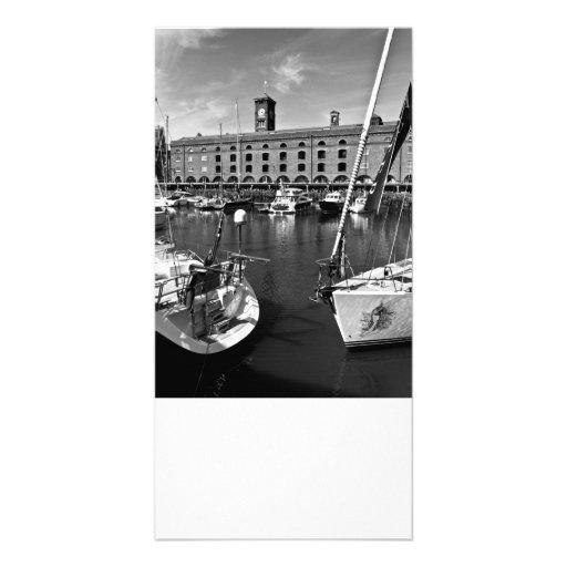 Muelle Londres del St Katherines Tarjeta Fotografica