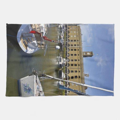 Muelle Londres del St Katherines Toalla