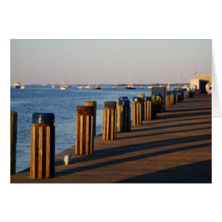 Muelle, puerto de Nantucket Tarjeta De Felicitación