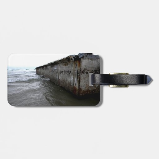 Muelle varado etiqueta para maleta